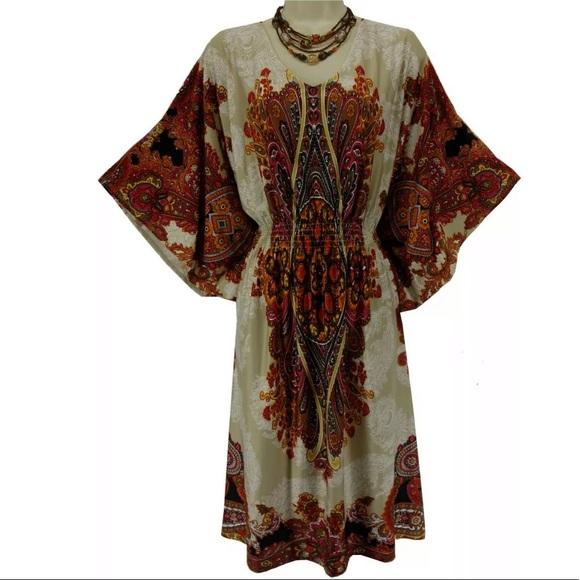 Dress Barn Dresses & Skirts - 16W 1X▪️PAISLEY BUTTERFLY SLEEVE DRESS Plus Size